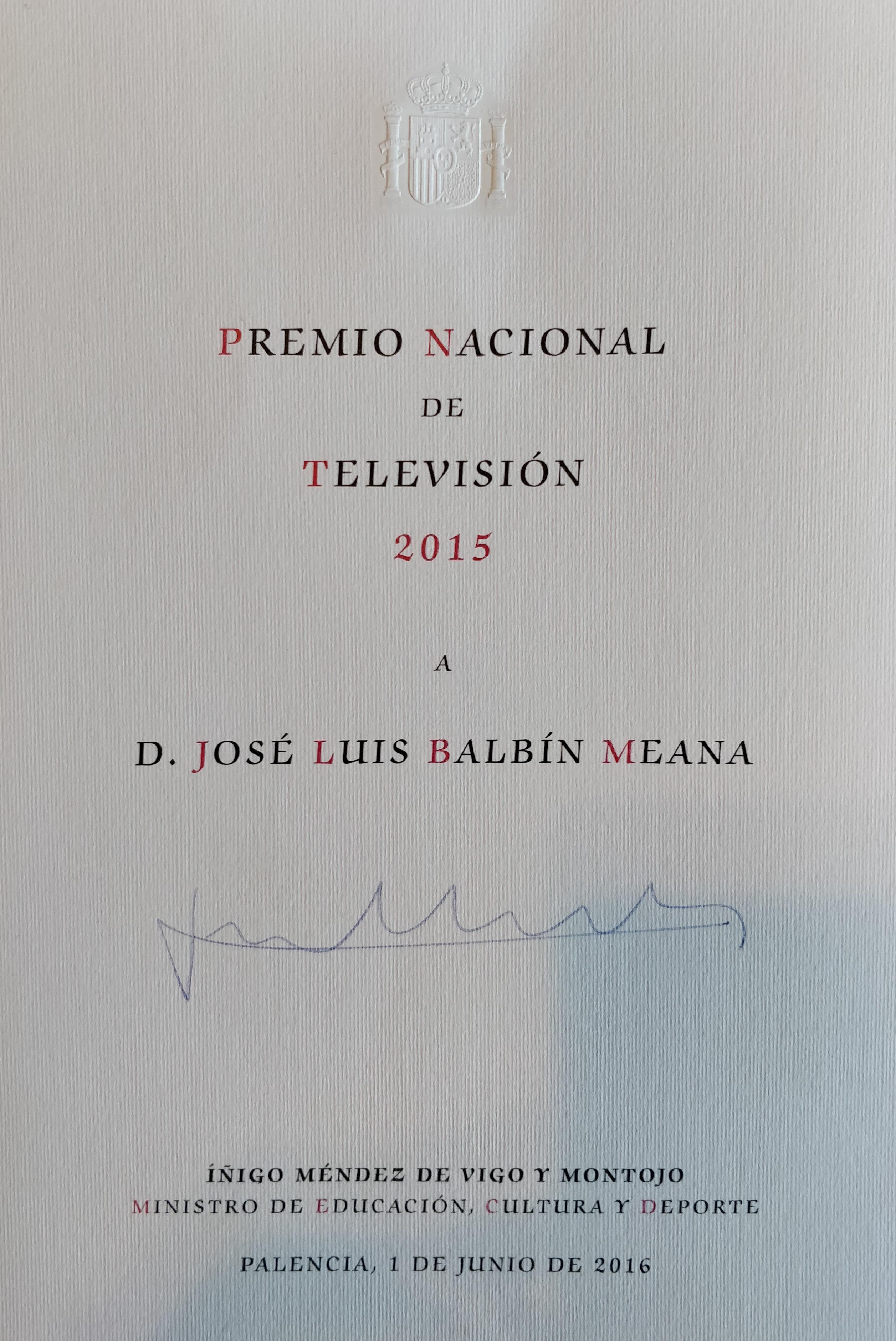 Premio Nacional Televisión 2015